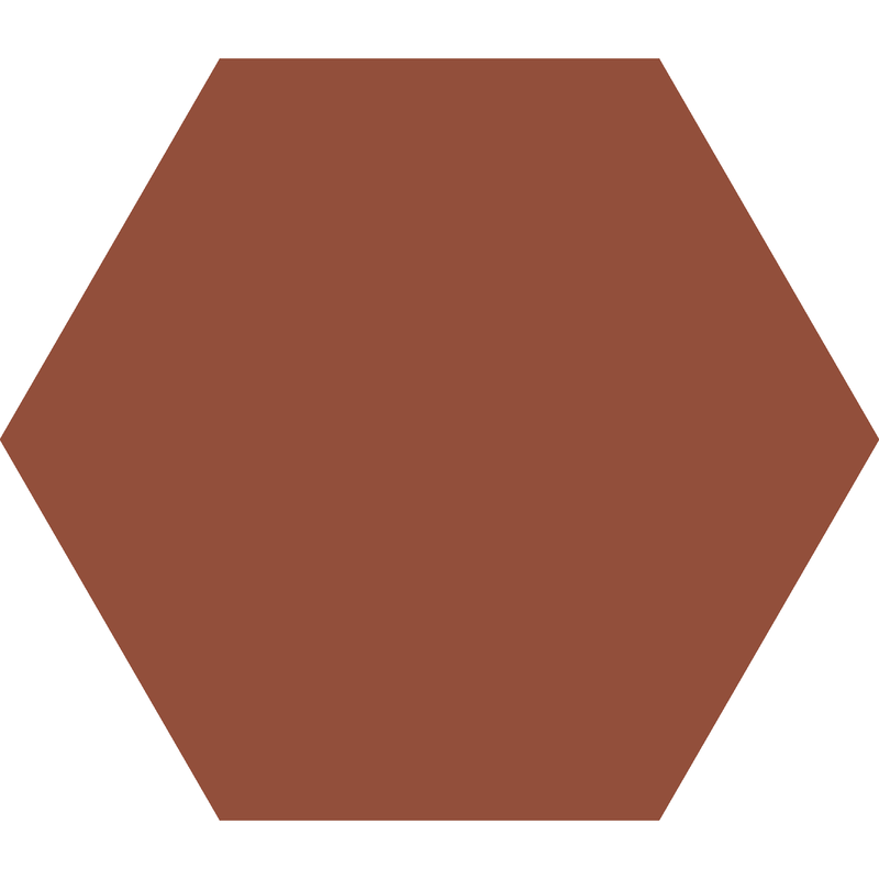 Hexagon 127 mm - Red från Byggfabriken