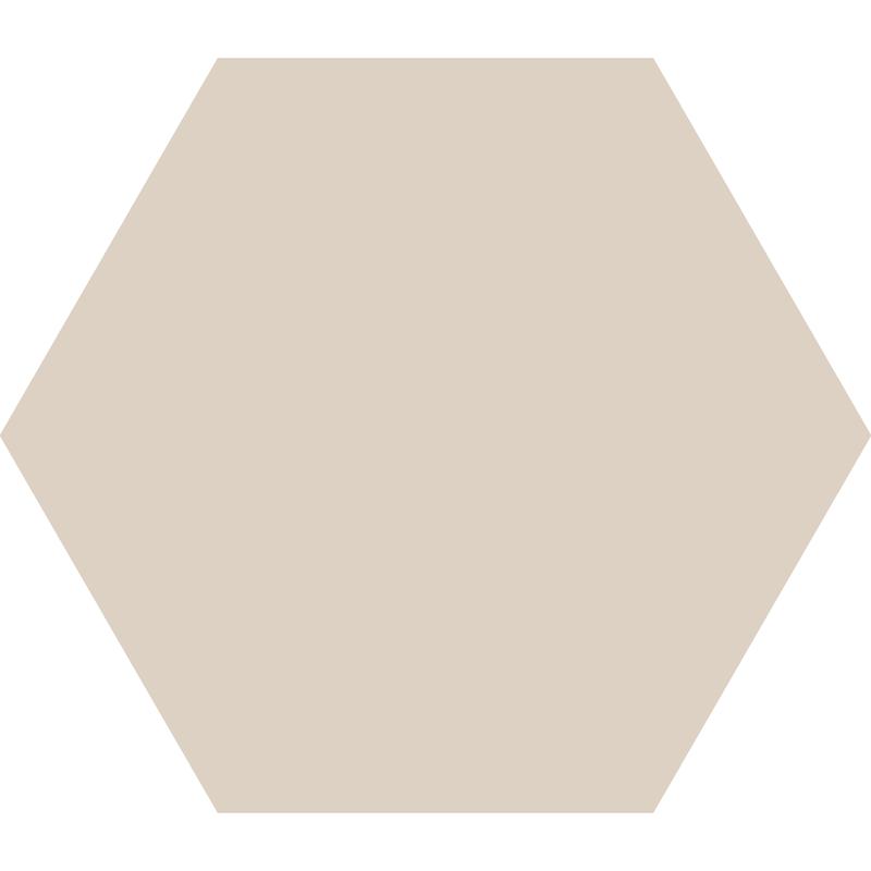 Hexagon 185 mm – Dover White från Byggfabriken