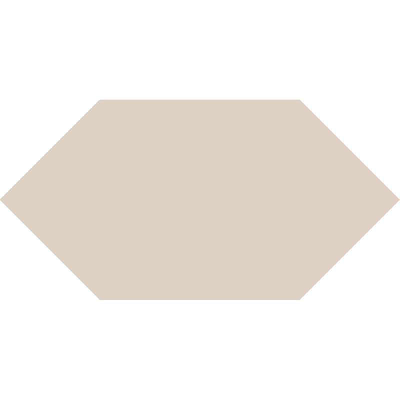 Hexagon L75 mm – Dover White från Byggfabriken