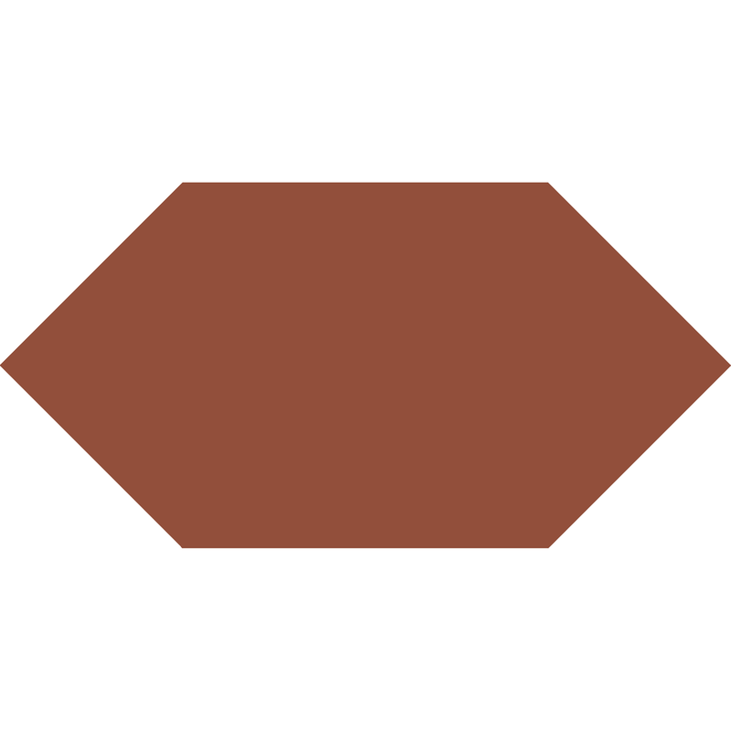 Hexagon L75 mm - Red från Byggfabriken