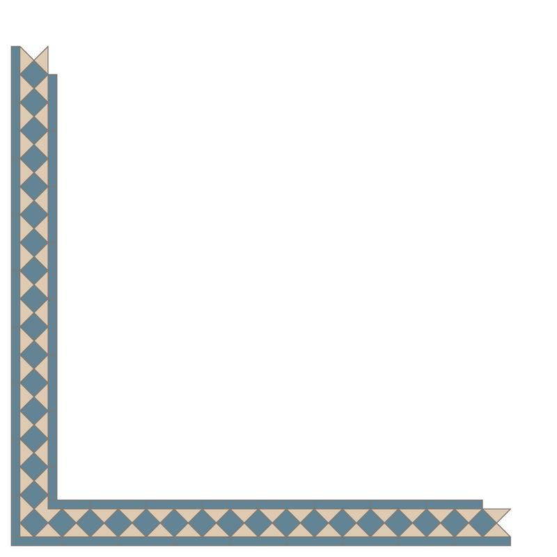 Kingsley Blue/White LPM från Byggfabriken