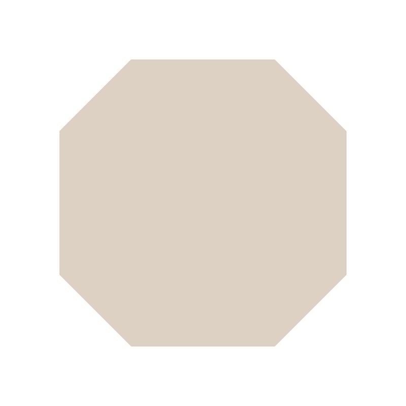 Octagon 106 mm - Dover White från Byggfabriken