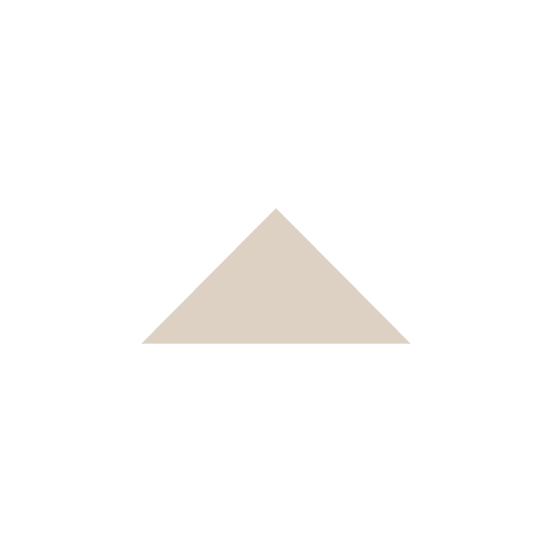 Triangle 73 mm – Dover White från Byggfabriken