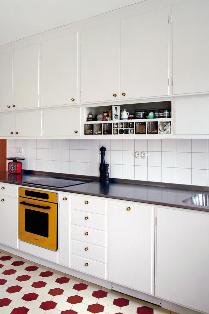 Inredning ett rum och kok