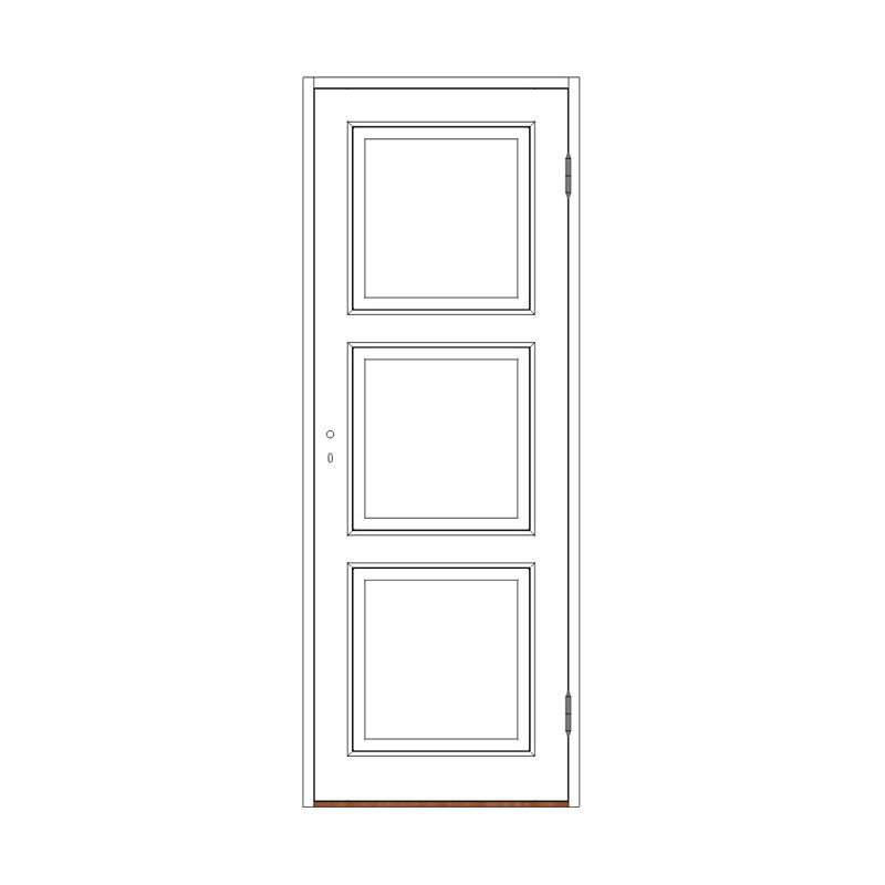 Innerdörr 3-spegel massiv - M8x20 H från Byggfabriken