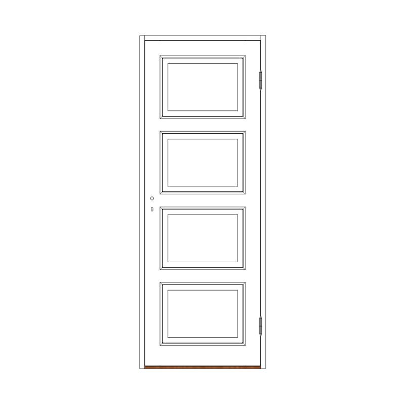 Innerdörr 4-spegel massiv - M8x20 H från Byggfabriken