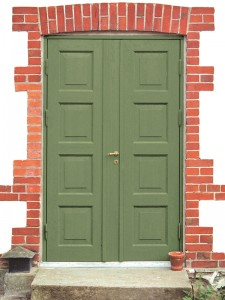 Dubbeldörrar med kammartrycke